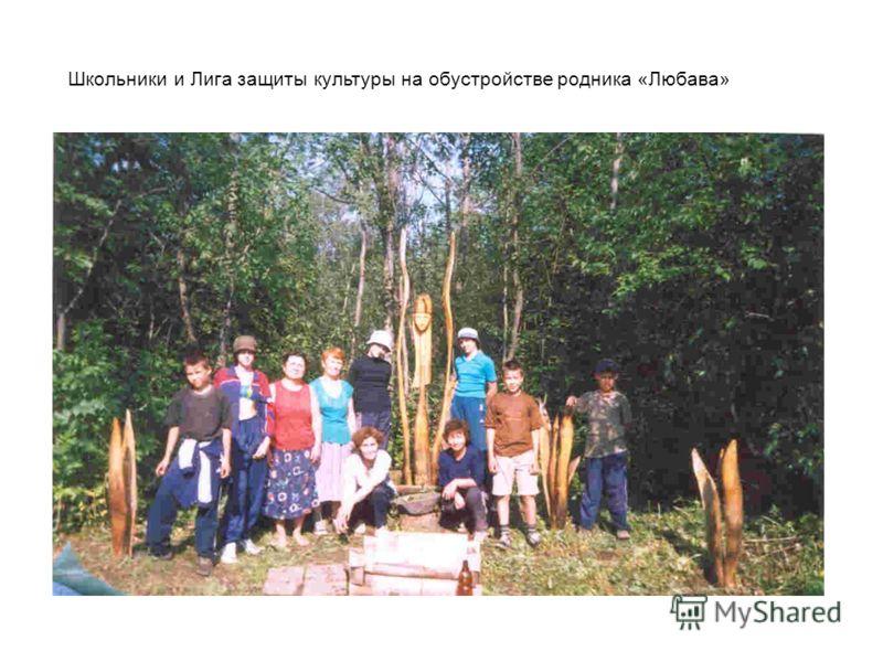 Школьники и Лига защиты культуры на обустройстве родника «Любава»