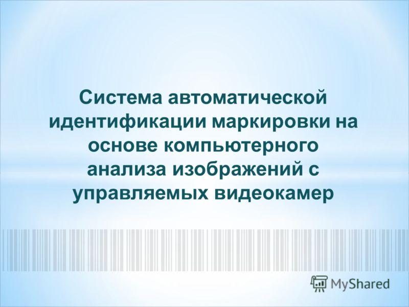 Система автоматической идентификации маркировки на основе компьютерного анализа изображений с управляемых видеокамер