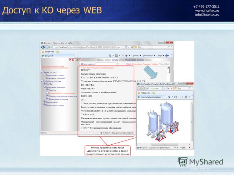 Доступ к КО через WEB