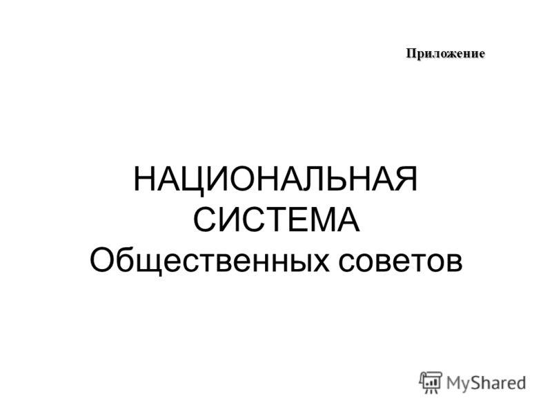 НАЦИОНАЛЬНАЯ СИСТЕМА Общественных советов Приложение