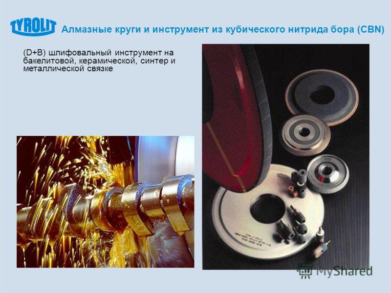 (D+B) шлифовальный инструмент на бакелитовой, керамической, синтер и металлической связке Алмазные круги и инструмент из кубического нитрида бора (CBN)