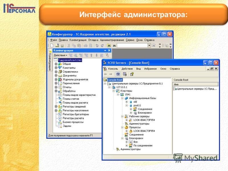Интерфейс администратора: