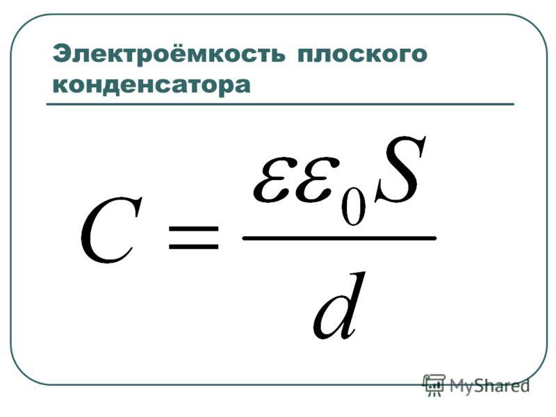 Электроёмкость плоского конденсатора
