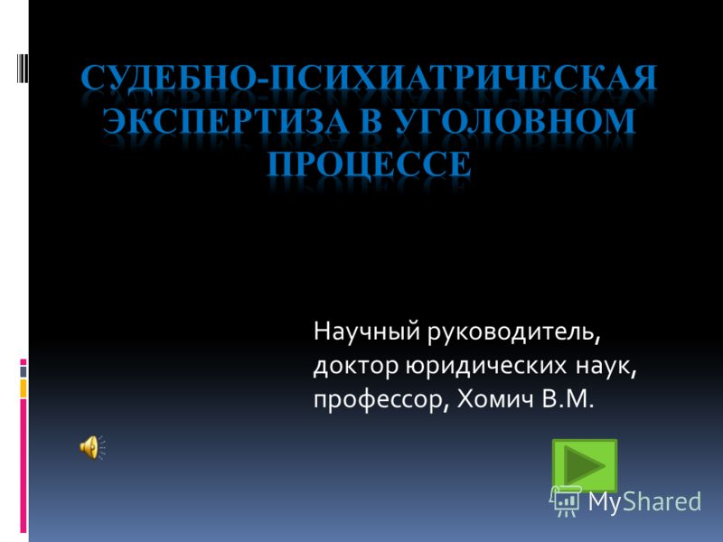 Научный руководитель, доктор юридических наук, профессор, Хомич В.М.