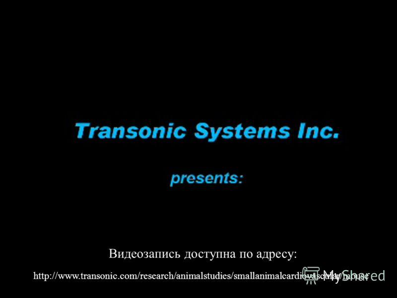 http://www.transonic.com/research/animalstudies/smallanimalcardiovascular/mouse Видеозапись доступна по адресу: