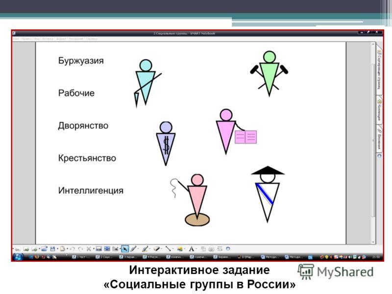 Интерактивное задание «Социальные группы в России»