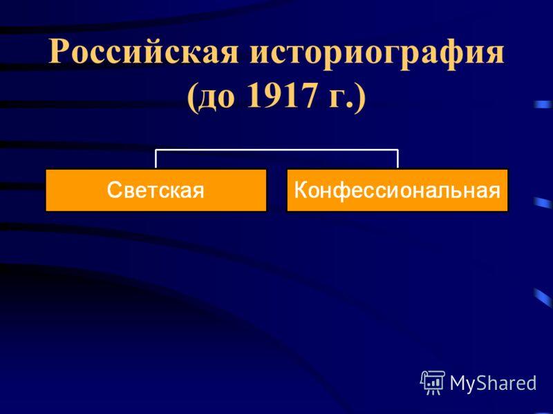 Российская историография (до 1917 г.)