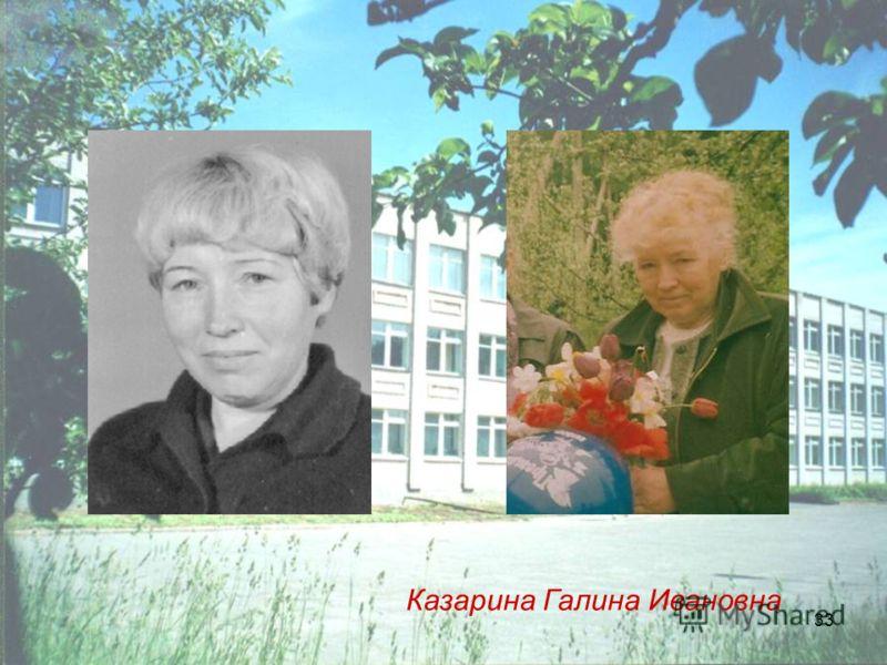 33 Казарина Галина Ивановна