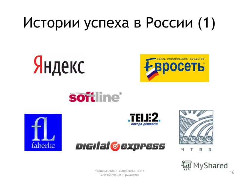 Истории успеха в России (1) Корпоративная социальная сеть для обучения и развития 16