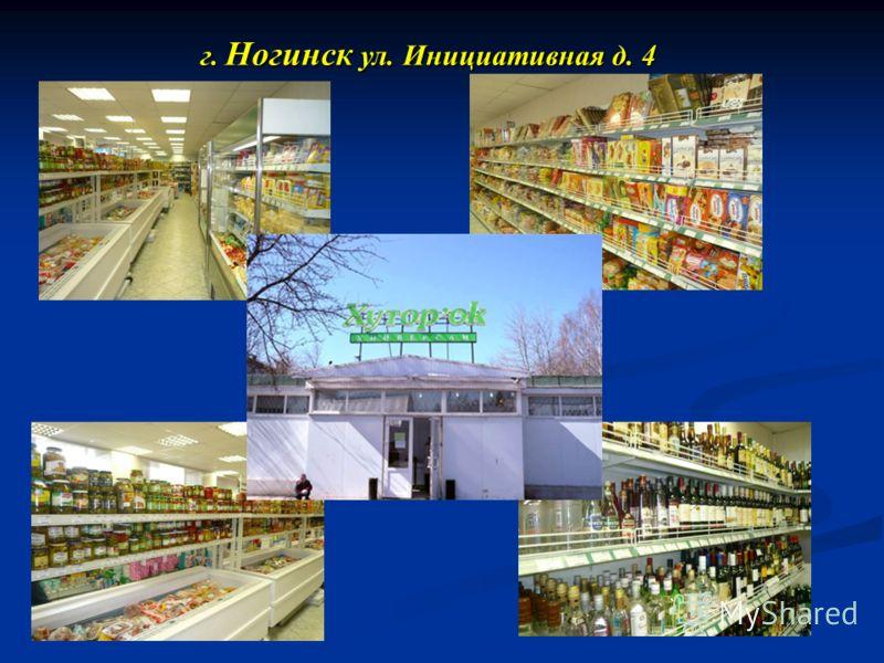г. Ногинск ул. Инициативная д. 4