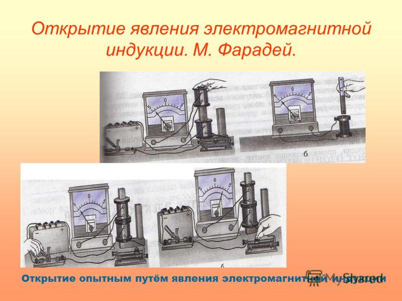 Открытие явления электромагнитной индукции. М. Фарадей. Открытие опытным путём явления электромагнитной индукции