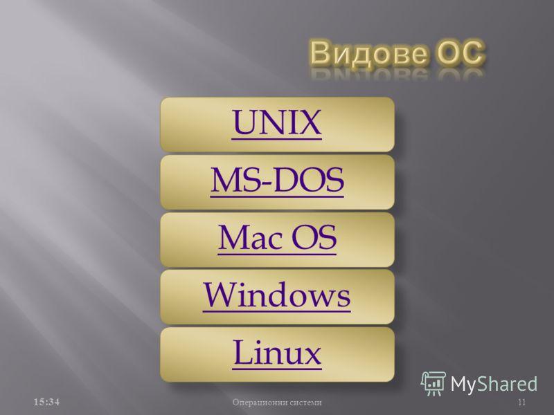 Обвивката служи за връзка между потребителя и ядрото. Тя може да бъде както графична така и команден ред. Операционната система използва и друг вид системен софтуер, който обаче не е част от самата операционна система драйверите. Те служат за връзка