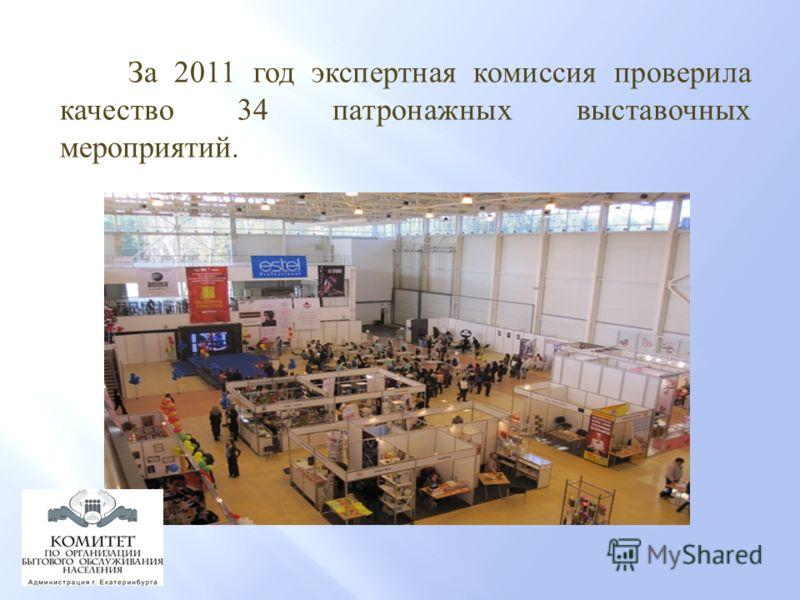 За 2011 год экспертная комиссия проверила качество 34 патронажных выставочных мероприятий.