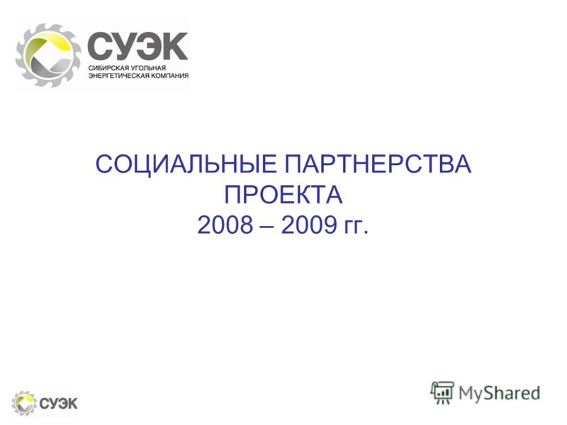 СОЦИАЛЬНЫЕ ПАРТНЕРСТВА ПРОЕКТА 2008 – 2009 гг.