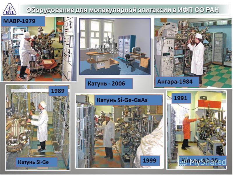 Оборудование для молекулярной эпитаксии в ИФП СО РАН Катунь Si-Ge-GaAs Катунь A3-B5 Ангара-1984 Катунь Si-Ge МАВР-1979 Катунь - 2006 1999 1991 1989