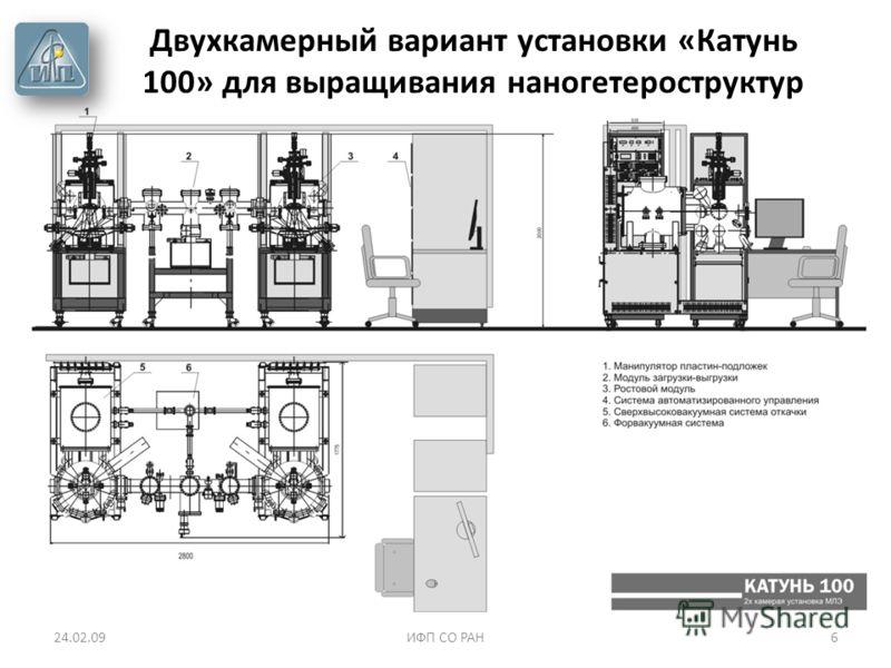 24.02.09ИФП СО РАН6 Двухкамерный вариант установки «Катунь 100» для выращивания наногетероструктур