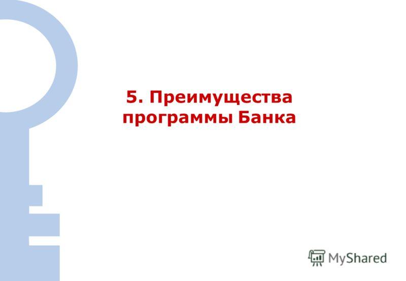 22 5. Преимущества программы Банка