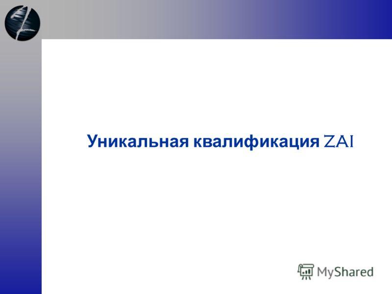 Уникальная квалификация ZAI