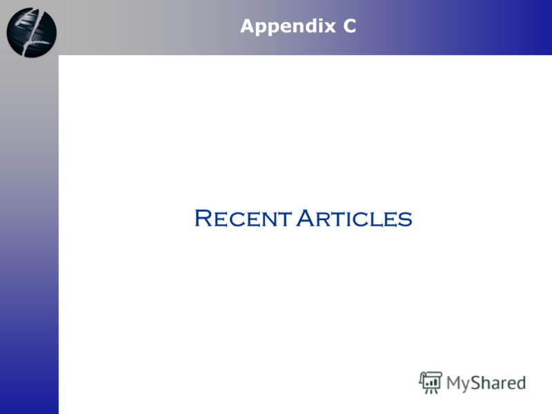 Recent Articles Appendix C