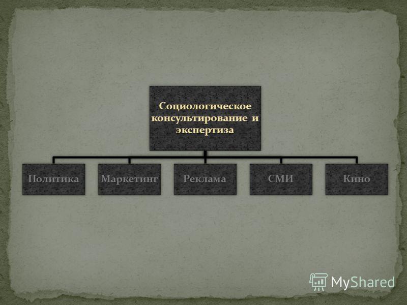 Социологическое консультирование и экспертиза ПолитикаМаркетингРекламаСМИКино
