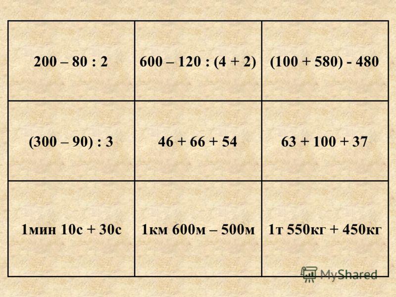 Урок по математике 4 класс Тема урока: «Сложение и вычитание многозначных чисел. Закрепление».
