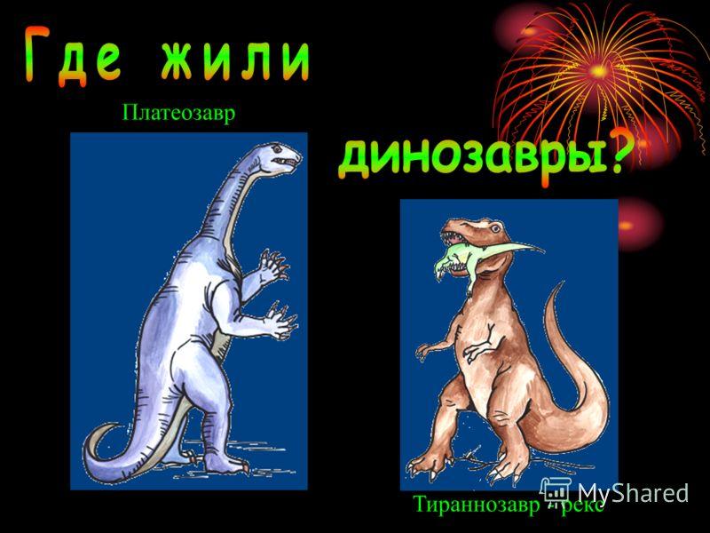 Платеозавр Тираннозавр - рекс