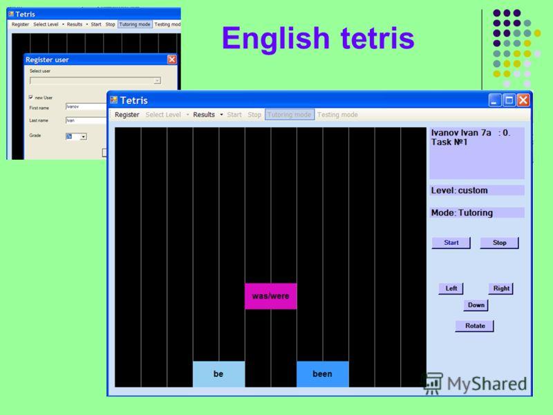 English tetris