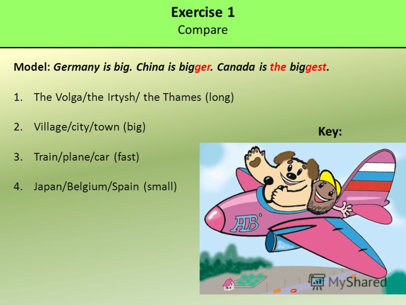Exercise 1 compare model germany is big china is bigger canada is