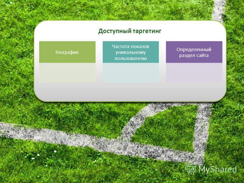 актуальный прайс-лист доступен по адресу http://www.ftables.ru/advert/http://www.ftables.ru/advert/ География Частота показов уникальному пользователю Определенный раздел сайта