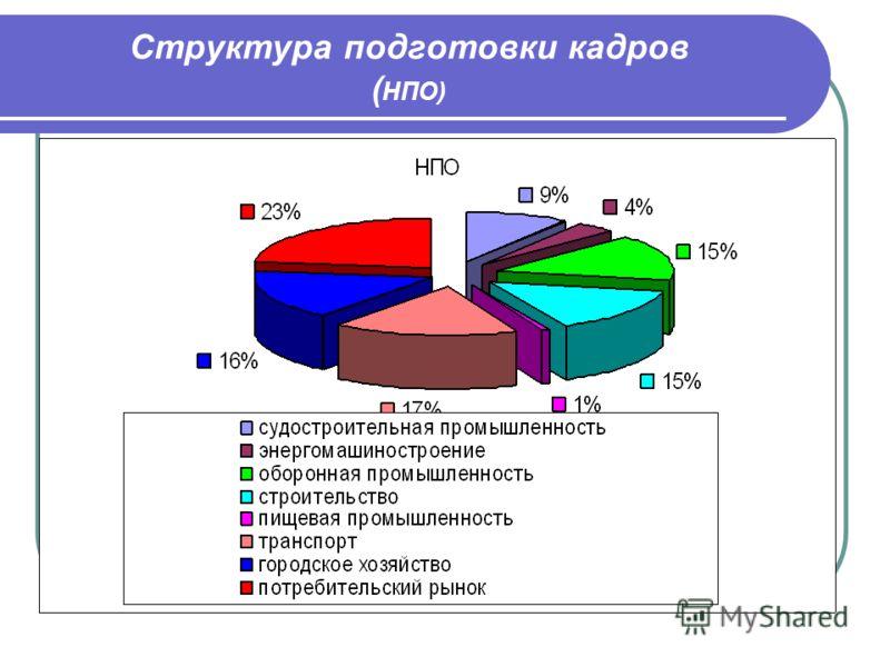 Структура подготовки кадров ( НПО)