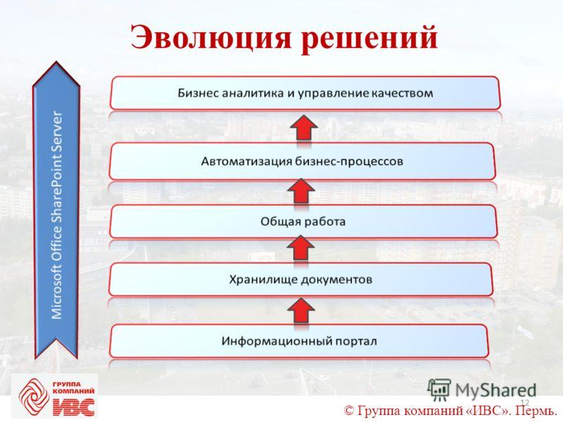 © Группа компаний «ИВС». Пермь. Эволюция решений 12