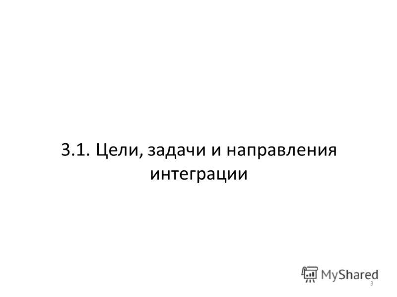 3.1. Цели, задачи и направления интеграции 3