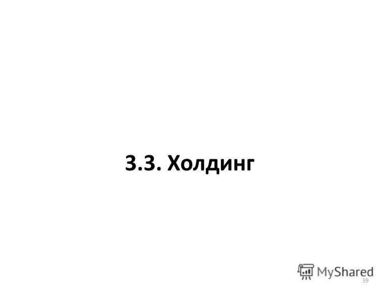 3.3. Холдинг 39