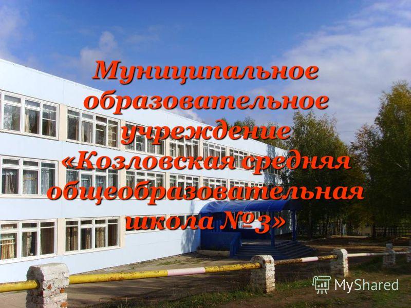 Муниципальное образовательное учреждение «Козловская средняя общеобразовательная школа 3»