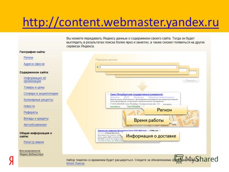 http://content.webmaster.yandex.ru