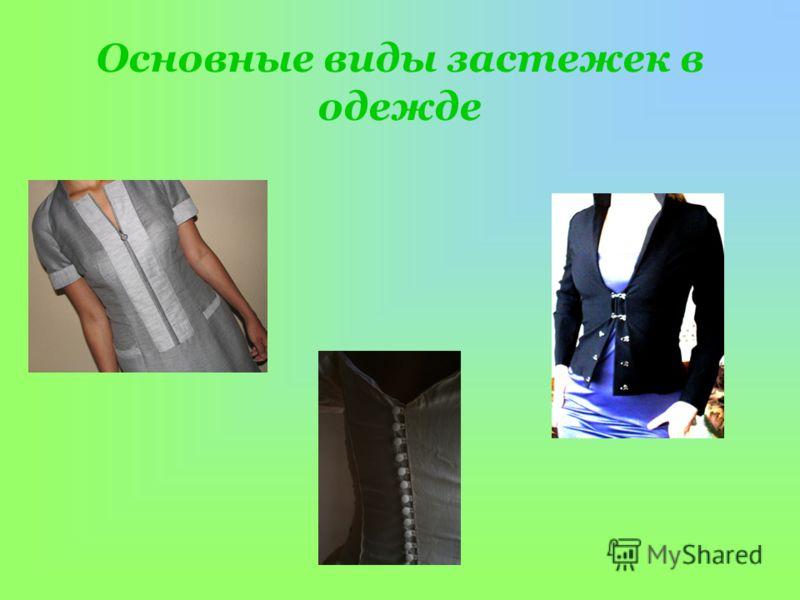 Основные виды застежек в одежде