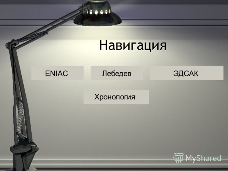 ЛебедевENIACЭДСАК Навигация Хронология