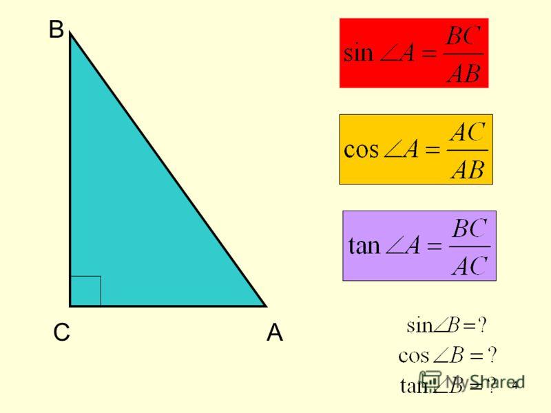 3 Синус, косинус, тангенс острого угла прямоугольного треугольника
