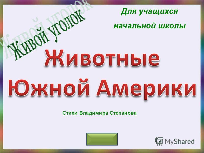 Для учащихся начальной школы Стихи Владимира Степанова