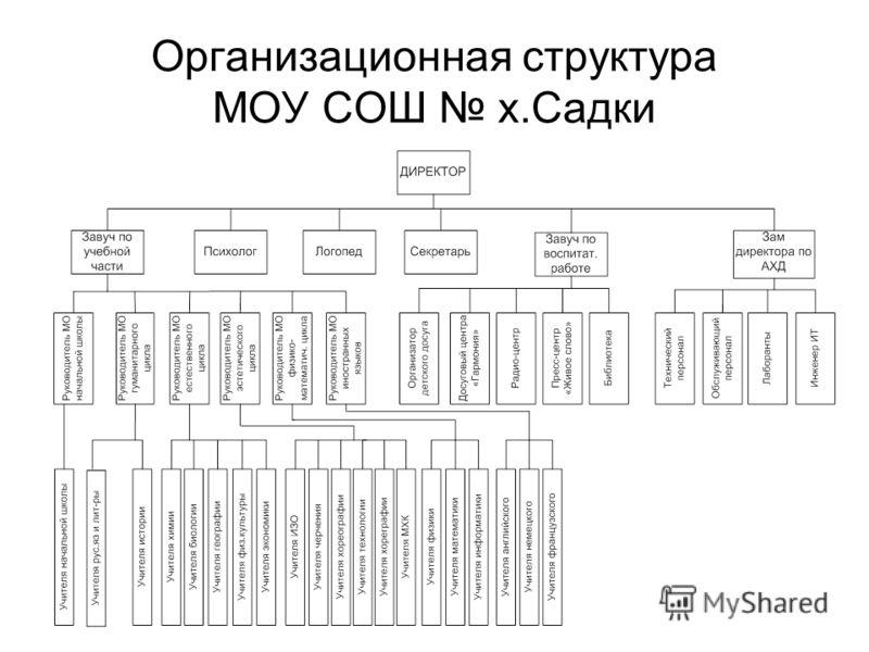 Организационная структура МОУ СОШ х.Садки