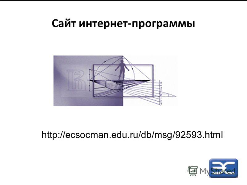 Сайт интернет-программы http://ecsocman.edu.ru/db/msg/92593.html