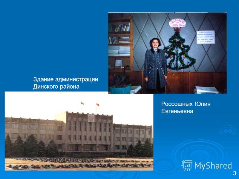 Россошных Юлия Евгеньевна 3 Здание администрации Динского района