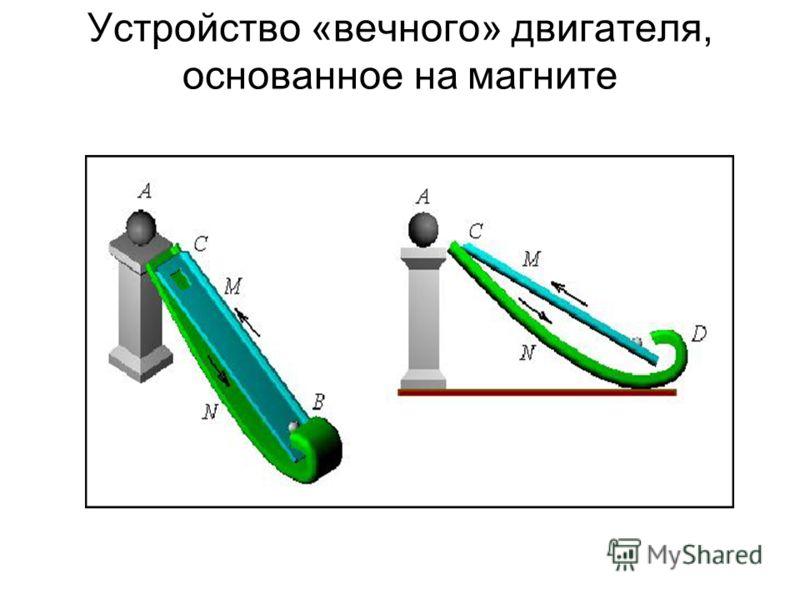 Устройство «вечного» двигателя, основанное на магните