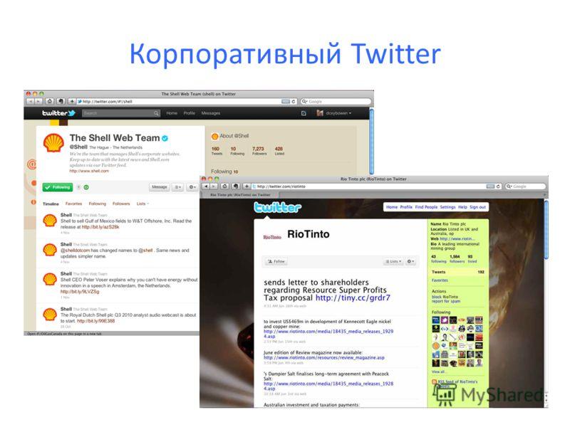 Корпоративный Twitter