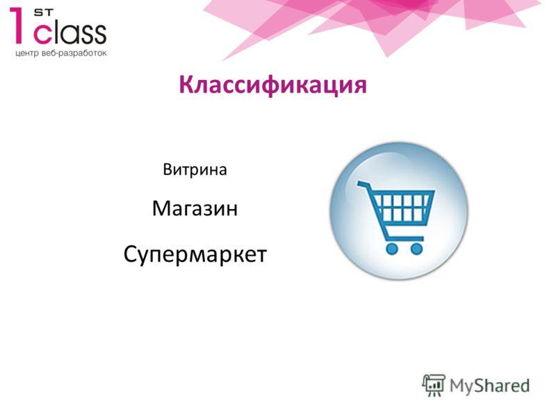 Классификация Витрина Магазин Супермаркет