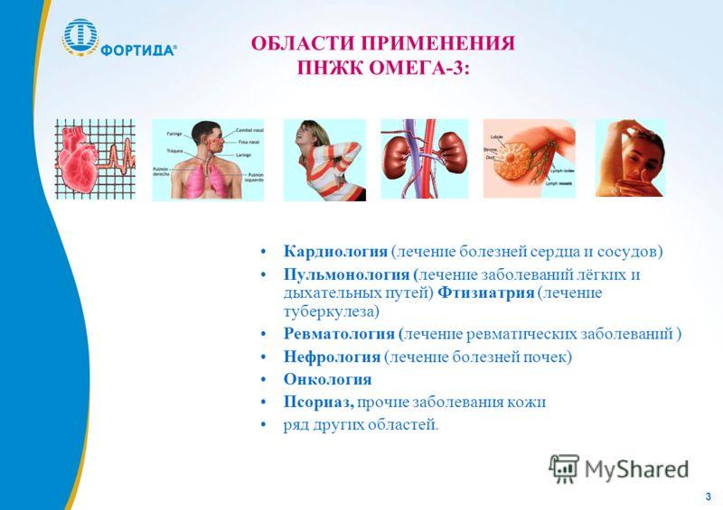 3 Кардиология (лечение болезней сердца и сосудов) Пульмонология (лечение заболеваний лёгких и дыхательных путей) Фтизиатрия (лечение туберкулеза) Ревматология (лечение ревматических заболеваний ) Нефрология (лечение болезней почек) Онкология Псориаз,