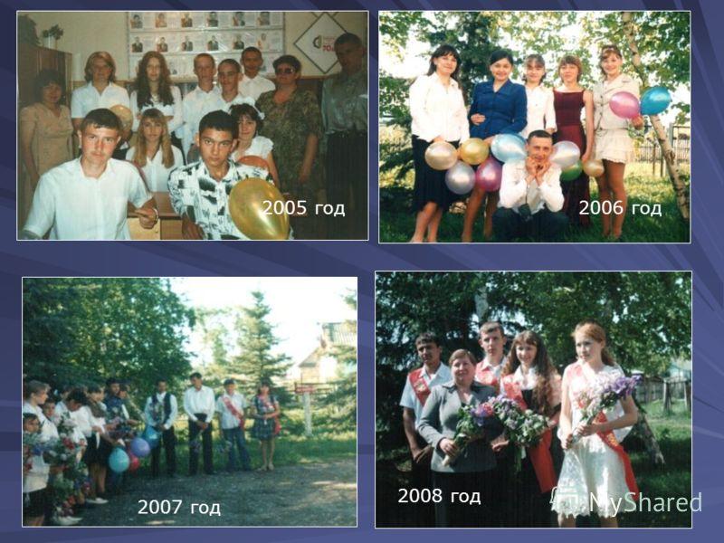 2005 год2006 год 2008 год 2007 год