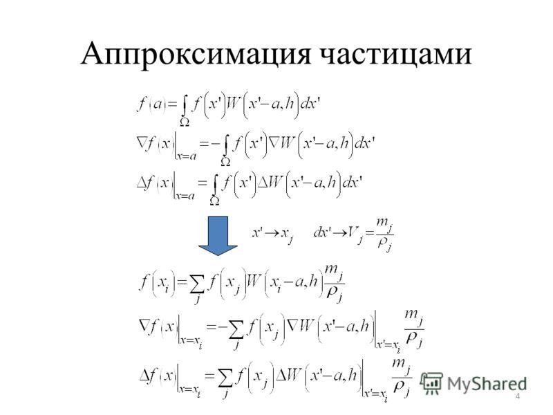 Аппроксимация частицами 4