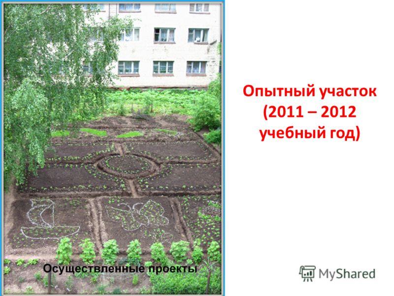 Опытный участок (2011 – 2012 учебный год)