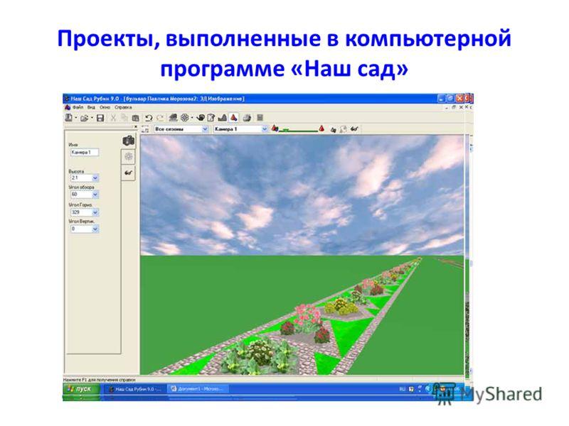 Проекты, выполненные в компьютерной программе «Наш сад»